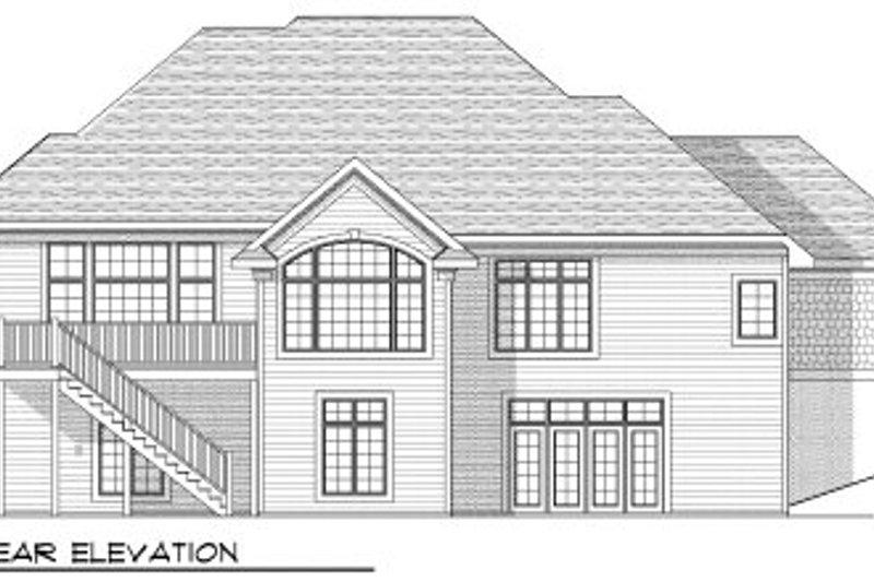 Southern Exterior - Rear Elevation Plan #70-807 - Houseplans.com