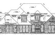 European Style House Plan - 4 Beds 3.5 Baths 3512 Sq/Ft Plan #310-227 Exterior - Rear Elevation
