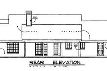 Country Exterior - Rear Elevation Plan #40-201