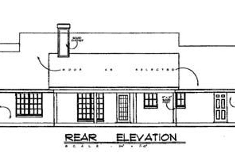 Country Exterior - Rear Elevation Plan #40-201 - Houseplans.com
