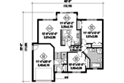 Traditional Style House Plan - 2 Beds 1 Baths 997 Sq/Ft Plan #25-4626 Floor Plan - Main Floor Plan