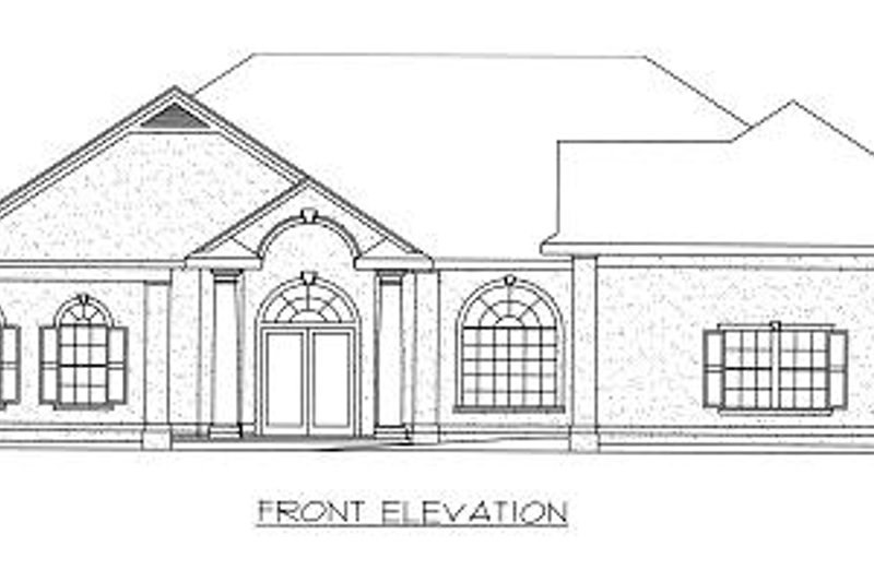 Mediterranean Exterior - Other Elevation Plan #117-523 - Houseplans.com