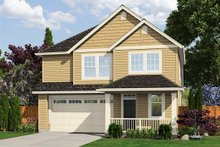 Home Plan - Traditional Exterior - Front Elevation Plan #48-510