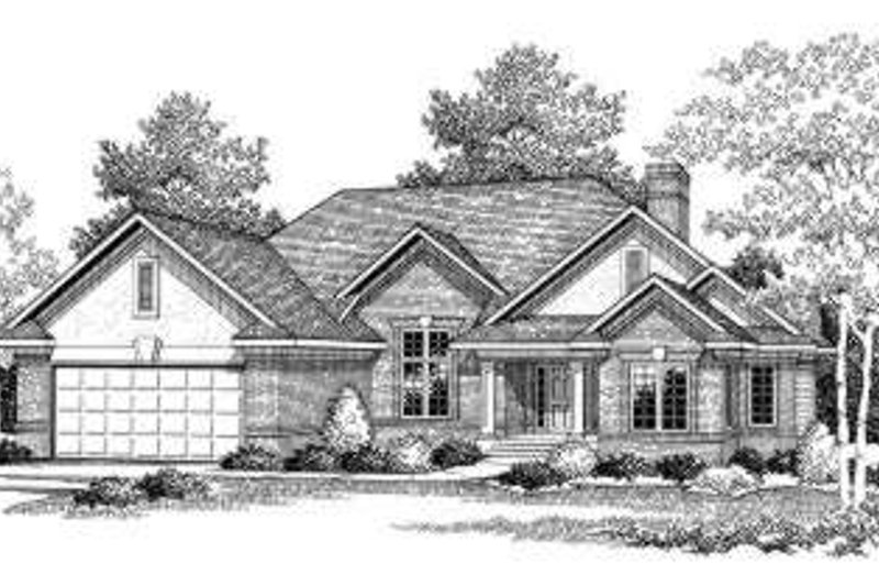 European Exterior - Front Elevation Plan #70-768