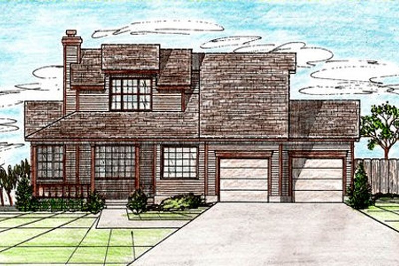 Traditional Style House Plan - 3 Beds 2 Baths 1819 Sq/Ft Plan #405-138 Exterior - Front Elevation