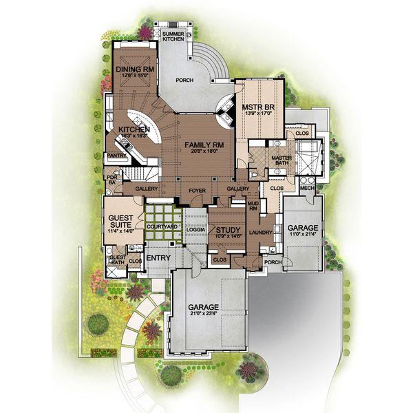 Prairie Floor Plan - Main Floor Plan Plan #80-198