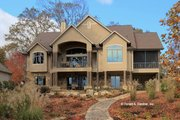Craftsman Style House Plan - 4 Beds 4 Baths 3427 Sq/Ft Plan #929-861 Exterior - Rear Elevation