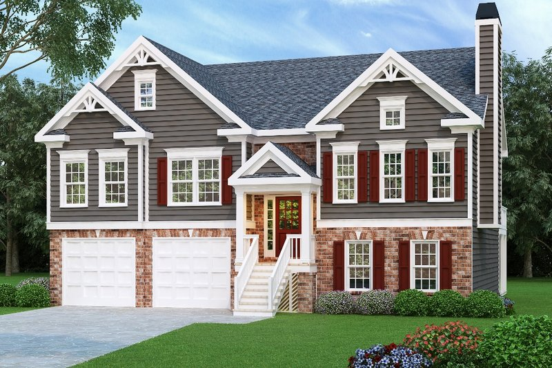 Dream House Plan - Traditional Exterior - Front Elevation Plan #419-103