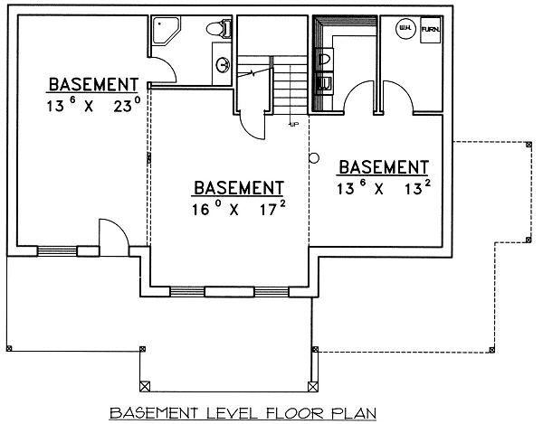 Bungalow Floor Plan - Lower Floor Plan #117-525
