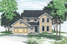 Traditional Exterior - Front Elevation Plan #20-2013