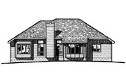 Traditional Style House Plan - 3 Beds 2 Baths 1710 Sq/Ft Plan #20-138 Exterior - Rear Elevation