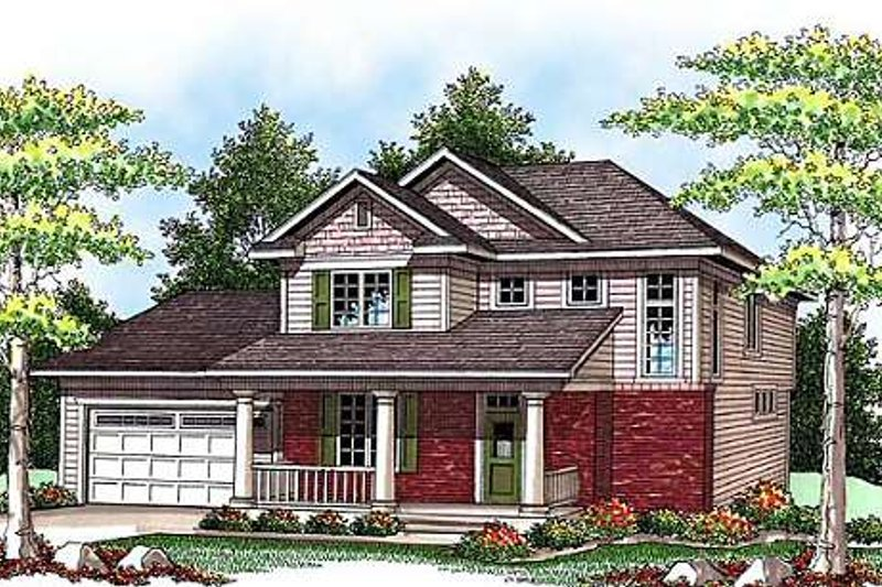 Traditional Exterior - Front Elevation Plan #70-917