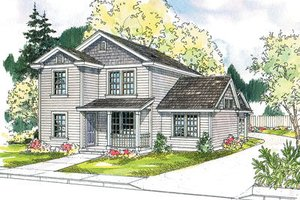 Exterior - Front Elevation Plan #124-615