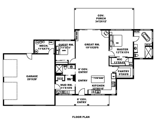 Dream House Plan - Modern Floor Plan - Main Floor Plan #117-908