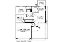 Floor Plan - Main Floor Plan Plan #70-1015