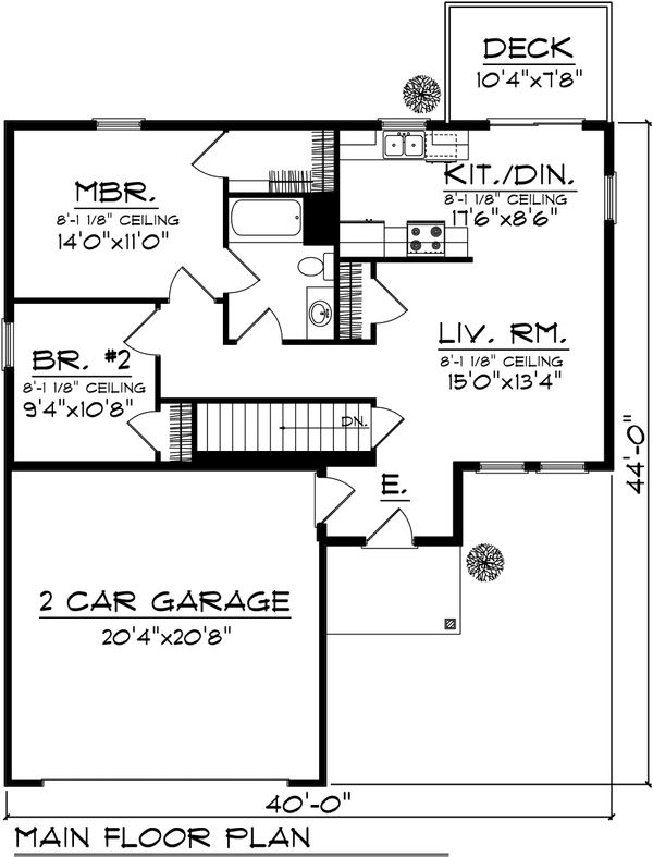 Floor Plan - Main Floor Plan Plan #70-1015