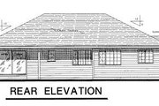 Traditional Style House Plan - 3 Beds 2 Baths 1668 Sq/Ft Plan #18-104 Exterior - Rear Elevation