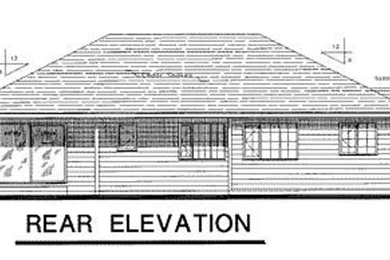 Traditional Exterior - Rear Elevation Plan #18-104 - Houseplans.com
