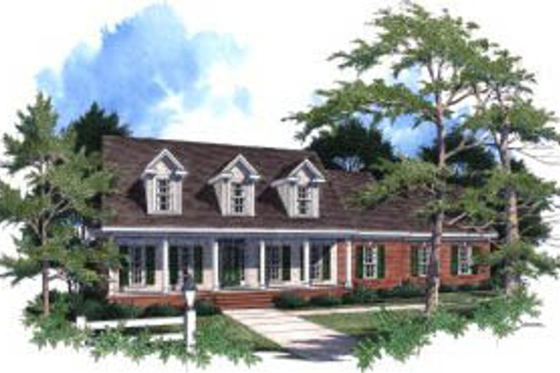 Country Exterior - Front Elevation Plan #37-199