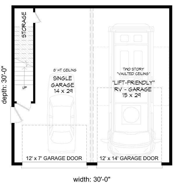 Contemporary Floor Plan - Main Floor Plan Plan #932-90