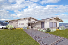 Dream House Plan - Contemporary Exterior - Front Elevation Plan #489-6