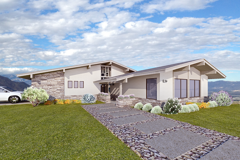 Contemporary Exterior - Front Elevation Plan #489-6
