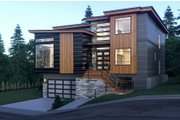 Contemporary Style House Plan - 5 Beds 5.5 Baths 5185 Sq/Ft Plan #1066-34 Exterior - Front Elevation