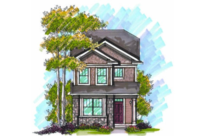 Craftsman Exterior - Front Elevation Plan #70-964