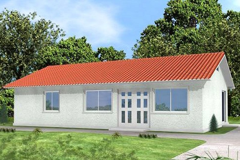 Mediterranean Exterior - Front Elevation Plan #1-140