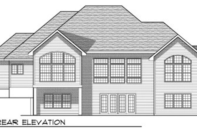 Traditional Exterior - Rear Elevation Plan #70-772 - Houseplans.com