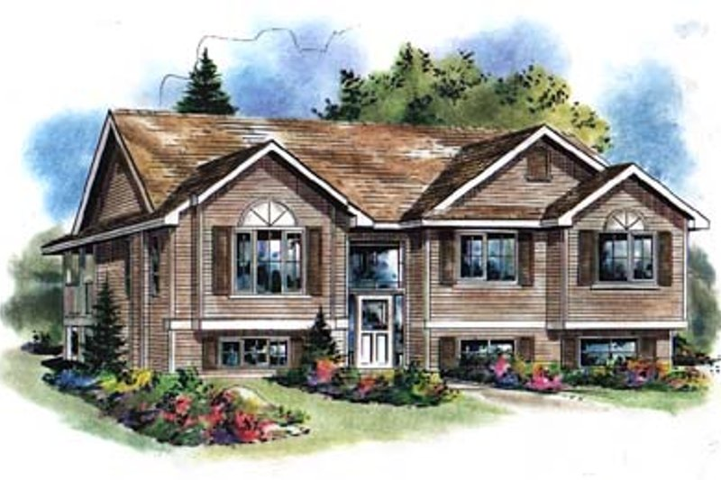 Traditional Style House Plan - 4 Beds 3 Baths 2095 Sq/Ft Plan #18-314 Exterior - Front Elevation