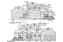 Home Plan Design - Colonial Exterior - Other Elevation Plan #3-253