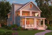 Craftsman Style House Plan - 3 Beds 3 Baths 2830 Sq/Ft Plan #888-12 Exterior - Rear Elevation