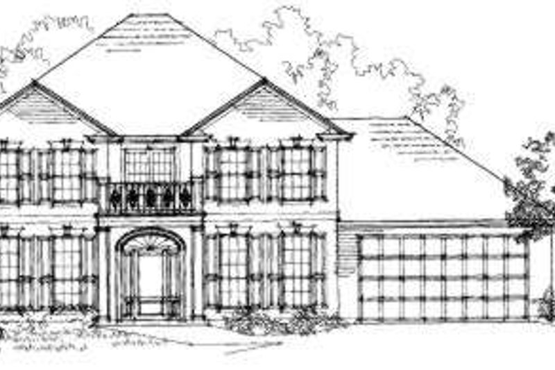 Southern Exterior - Front Elevation Plan #325-167
