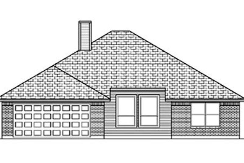 Traditional Exterior - Rear Elevation Plan #84-351 - Houseplans.com