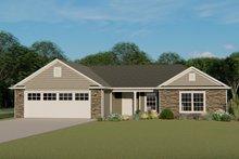 Architectural House Design - Craftsman Exterior - Front Elevation Plan #1064-60