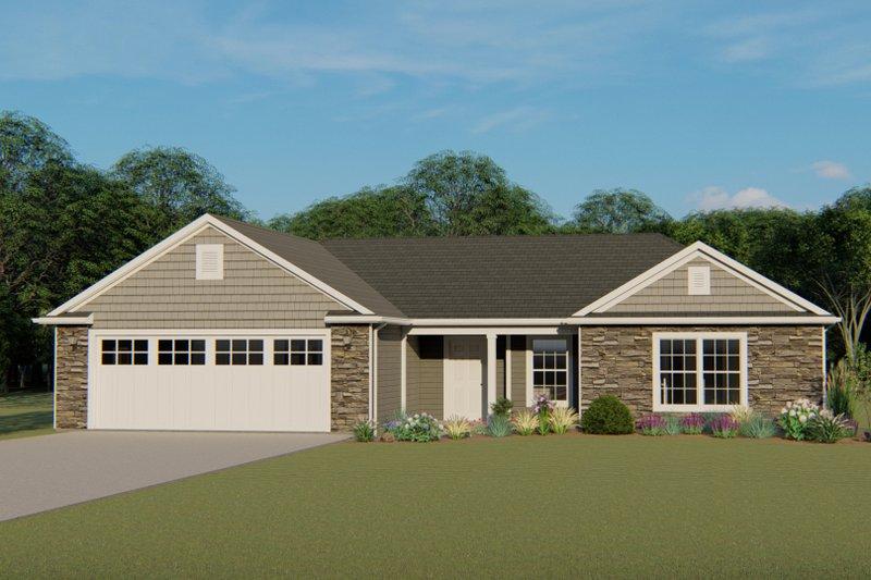 House Plan Design - Craftsman Exterior - Front Elevation Plan #1064-60