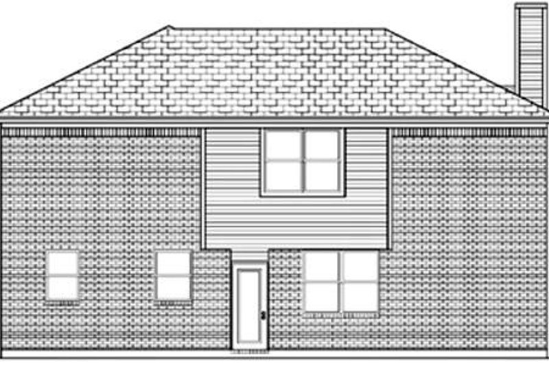 Traditional Exterior - Rear Elevation Plan #84-352 - Houseplans.com