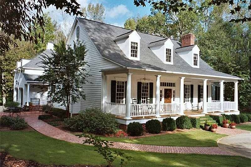 Southern Exterior - Front Elevation Plan #137-234 - Houseplans.com