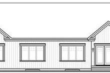 Craftsman Exterior - Rear Elevation Plan #23-649