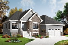 Home Plan - Country Exterior - Front Elevation Plan #23-2526