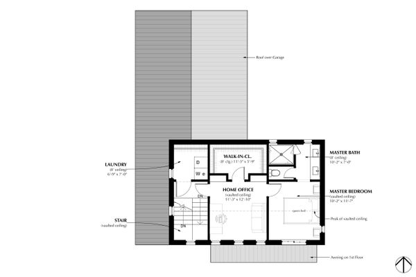 Farmhouse Floor Plan - Upper Floor Plan Plan #933-8