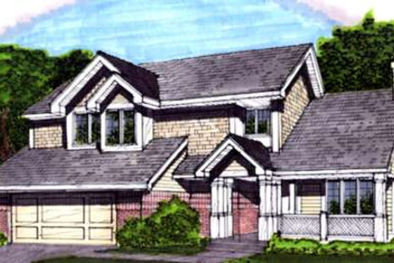 Country Exterior - Front Elevation Plan #320-353