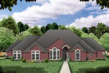 Home Plan - Traditional Exterior - Front Elevation Plan #84-397