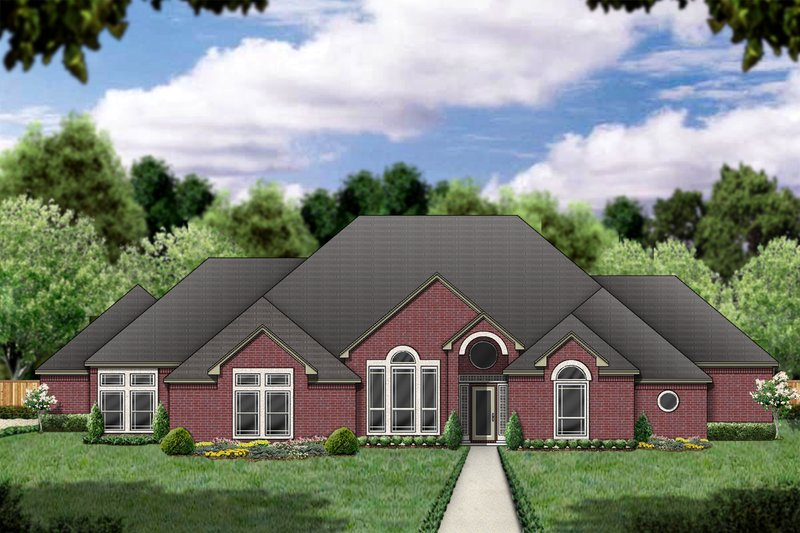 Traditional Exterior - Front Elevation Plan #84-397 - Houseplans.com