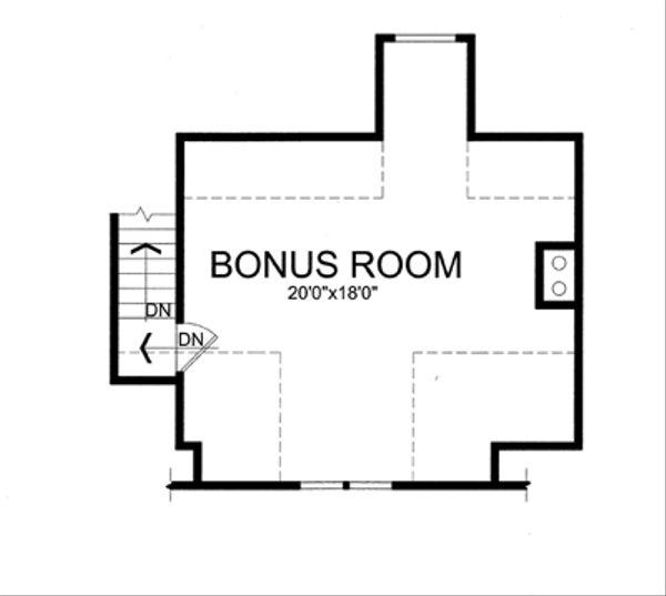 Craftsman Floor Plan - Upper Floor Plan Plan #456-36
