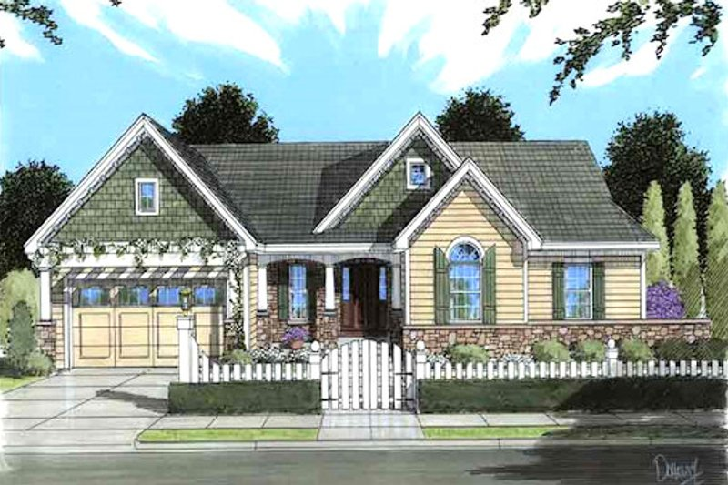 Traditional Exterior - Front Elevation Plan #46-481 - Houseplans.com
