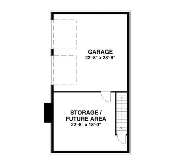 Craftsman Floor Plan - Lower Floor Plan Plan #56-638