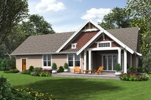 Cottage Exterior - Rear Elevation Plan #48-704