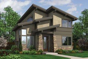 Modern Exterior - Front Elevation Plan #48-574